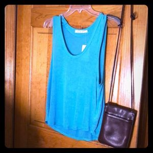Free people Turquoise sweater